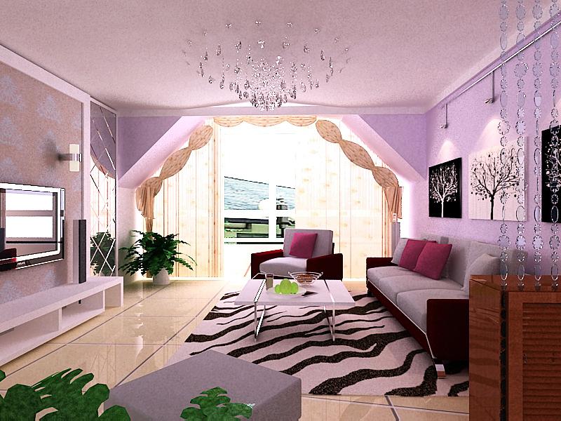 80平米阁楼3室2厅房屋装修设计 高清图片