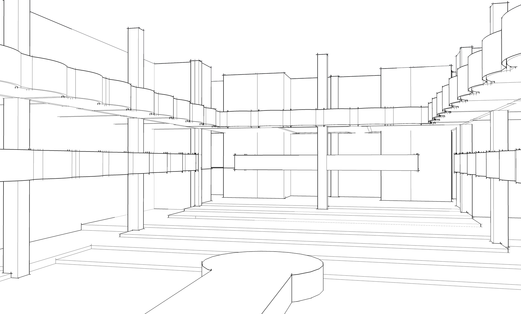 手绘局部欧式构件及造型,侧立面图