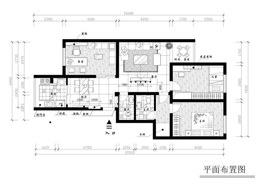 三室两厅装修效果图